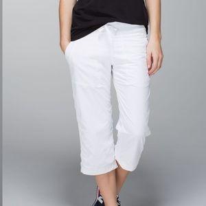 LULULEMON Studio Cropped White Pants